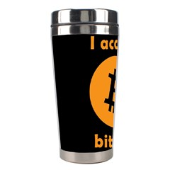 I Accept Bitcoin Stainless Steel Travel Tumblers by Valentinaart