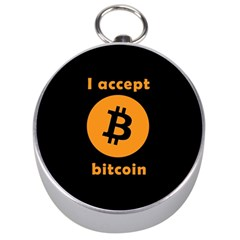 I Accept Bitcoin Silver Compasses by Valentinaart