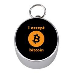 I Accept Bitcoin Mini Silver Compasses by Valentinaart