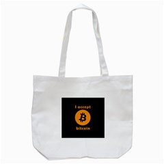 I Accept Bitcoin Tote Bag (white)