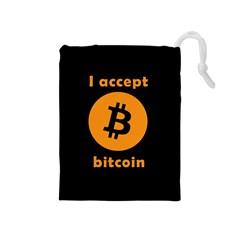 I Accept Bitcoin Drawstring Pouches (medium)  by Valentinaart