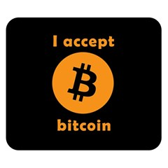 I Accept Bitcoin Double Sided Flano Blanket (small)  by Valentinaart