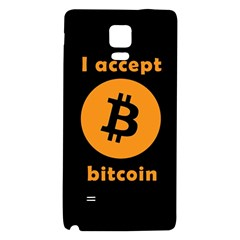 I Accept Bitcoin Galaxy Note 4 Back Case by Valentinaart