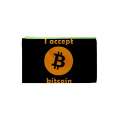I Accept Bitcoin Cosmetic Bag (xs) by Valentinaart