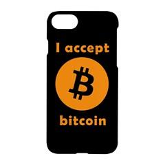 I Accept Bitcoin Apple Iphone 8 Hardshell Case by Valentinaart
