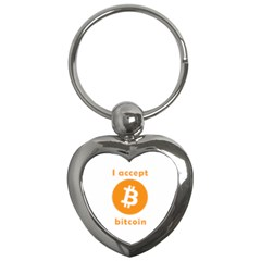 I Accept Bitcoin Key Chains (heart)  by Valentinaart