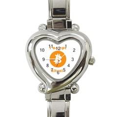 I Accept Bitcoin Heart Italian Charm Watch by Valentinaart
