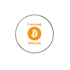 I Accept Bitcoin Hat Clip Ball Marker (4 Pack) by Valentinaart