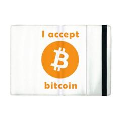 I Accept Bitcoin Apple Ipad Mini Flip Case by Valentinaart