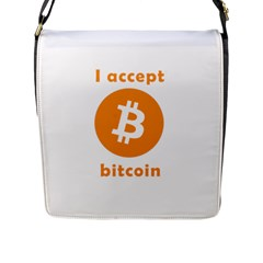 I Accept Bitcoin Flap Messenger Bag (l)  by Valentinaart