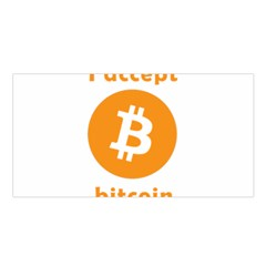 I Accept Bitcoin Satin Shawl by Valentinaart