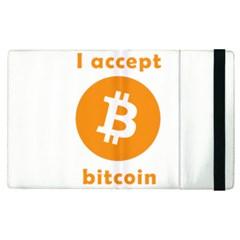 I Accept Bitcoin Apple Ipad Pro 12 9   Flip Case by Valentinaart
