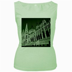 Architecture Parliament Landmark Women s Green Tank Top