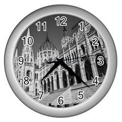 Architecture Parliament Landmark Wall Clocks (silver)  by BangZart