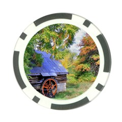 Landscape Blue Shed Scenery Wood Poker Chip Card Guard by BangZart