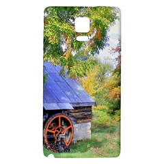 Landscape Blue Shed Scenery Wood Galaxy Note 4 Back Case by BangZart