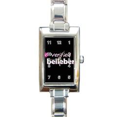 Verified Belieber Rectangle Italian Charm Watch by Valentinaart
