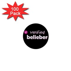 Verified Belieber 1  Mini Magnets (100 Pack)  by Valentinaart