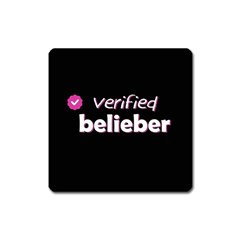 Verified Belieber Square Magnet by Valentinaart