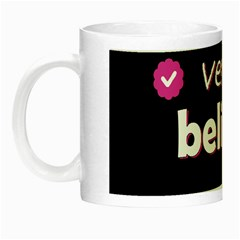 Verified Belieber Night Luminous Mugs by Valentinaart