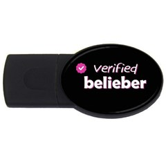 Verified Belieber Usb Flash Drive Oval (4 Gb) by Valentinaart