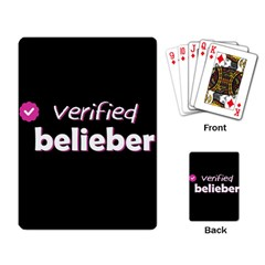 Verified Belieber Playing Card by Valentinaart
