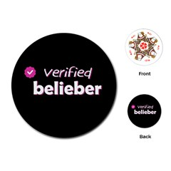 Verified Belieber Playing Cards (round)  by Valentinaart