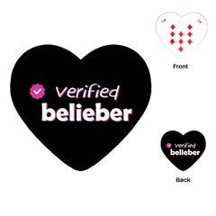 Verified Belieber Playing Cards (heart)  by Valentinaart