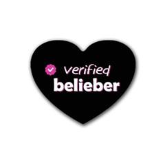 Verified Belieber Heart Coaster (4 Pack)  by Valentinaart