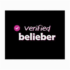 Verified Belieber Small Glasses Cloth (2 Side) by Valentinaart