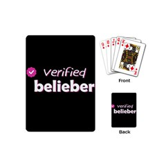 Verified Belieber Playing Cards (mini)  by Valentinaart