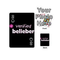 Verified Belieber Playing Cards 54 (mini)  by Valentinaart