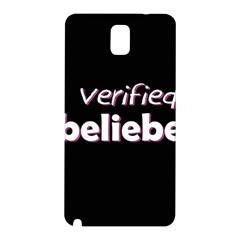 Verified Belieber Samsung Galaxy Note 3 N9005 Hardshell Back Case by Valentinaart