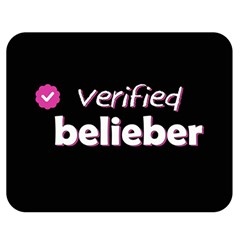 Verified Belieber Double Sided Flano Blanket (medium)  by Valentinaart