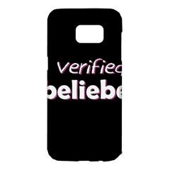 Verified Belieber Samsung Galaxy S7 Edge Hardshell Case by Valentinaart