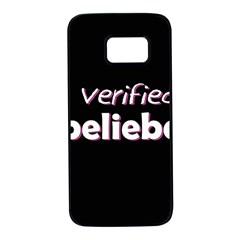 Verified Belieber Samsung Galaxy S7 Black Seamless Case by Valentinaart