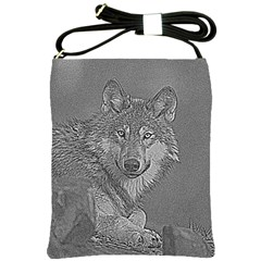 Wolf Forest Animals Shoulder Sling Bags by BangZart
