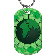 Earth Forest Forestry Lush Green Dog Tag (one Side) by BangZart