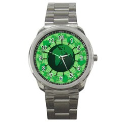 Earth Forest Forestry Lush Green Sport Metal Watch by BangZart