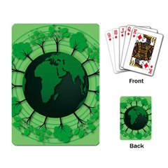 Earth Forest Forestry Lush Green Playing Card by BangZart