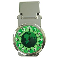 Earth Forest Forestry Lush Green Money Clip Watches by BangZart