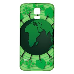 Earth Forest Forestry Lush Green Samsung Galaxy S5 Back Case (white) by BangZart