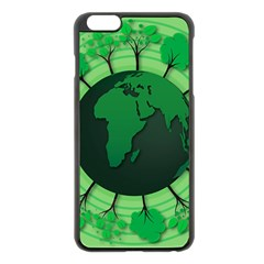 Earth Forest Forestry Lush Green Apple Iphone 6 Plus/6s Plus Black Enamel Case by BangZart