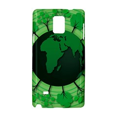Earth Forest Forestry Lush Green Samsung Galaxy Note 4 Hardshell Case by BangZart