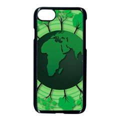 Earth Forest Forestry Lush Green Apple Iphone 8 Seamless Case (black) by BangZart