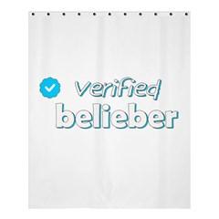 Verified Belieber Shower Curtain 60  X 72  (medium)  by Valentinaart