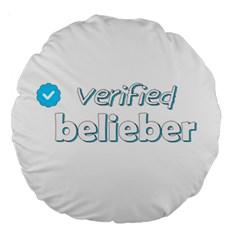 Verified Belieber Large 18  Premium Round Cushions by Valentinaart