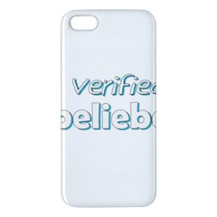 Verified Belieber Apple Iphone 5 Premium Hardshell Case by Valentinaart