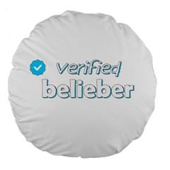 Verified Belieber Large 18  Premium Flano Round Cushions by Valentinaart