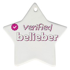 Verified Belieber Ornament (star) by Valentinaart